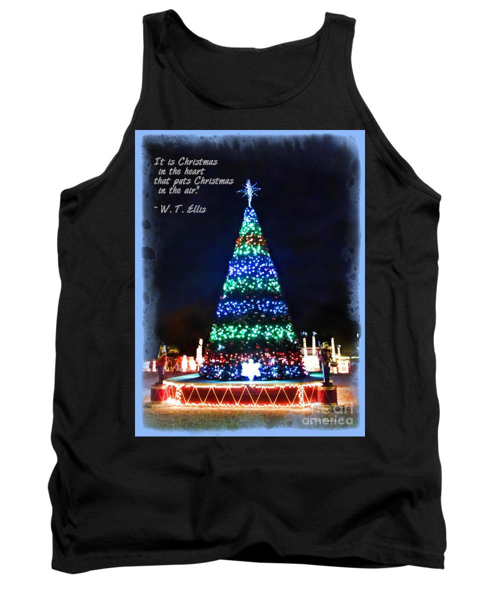 Christmas In The Heart Tank Top featuring the photograph Christmas In The Air by Joan Minchak