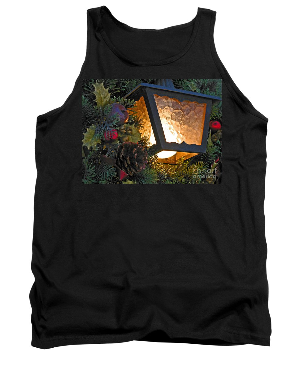 Christmas Tank Top featuring the photograph Christmas Welcome by Ann Horn