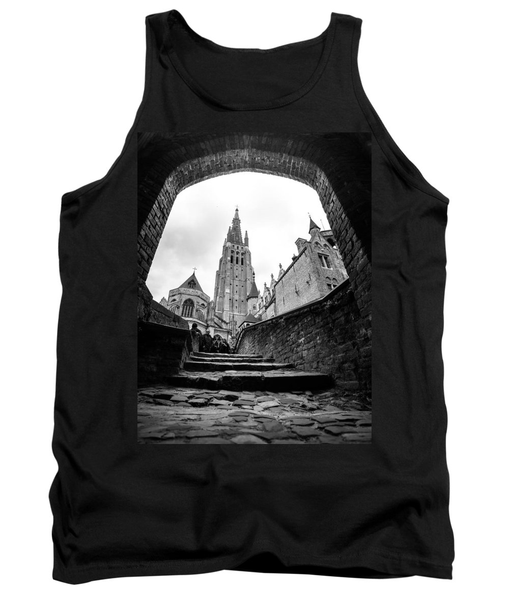 Bruges Belgium 2014 Tank Top featuring the photograph Church Of Our Lady by Lauri Novak