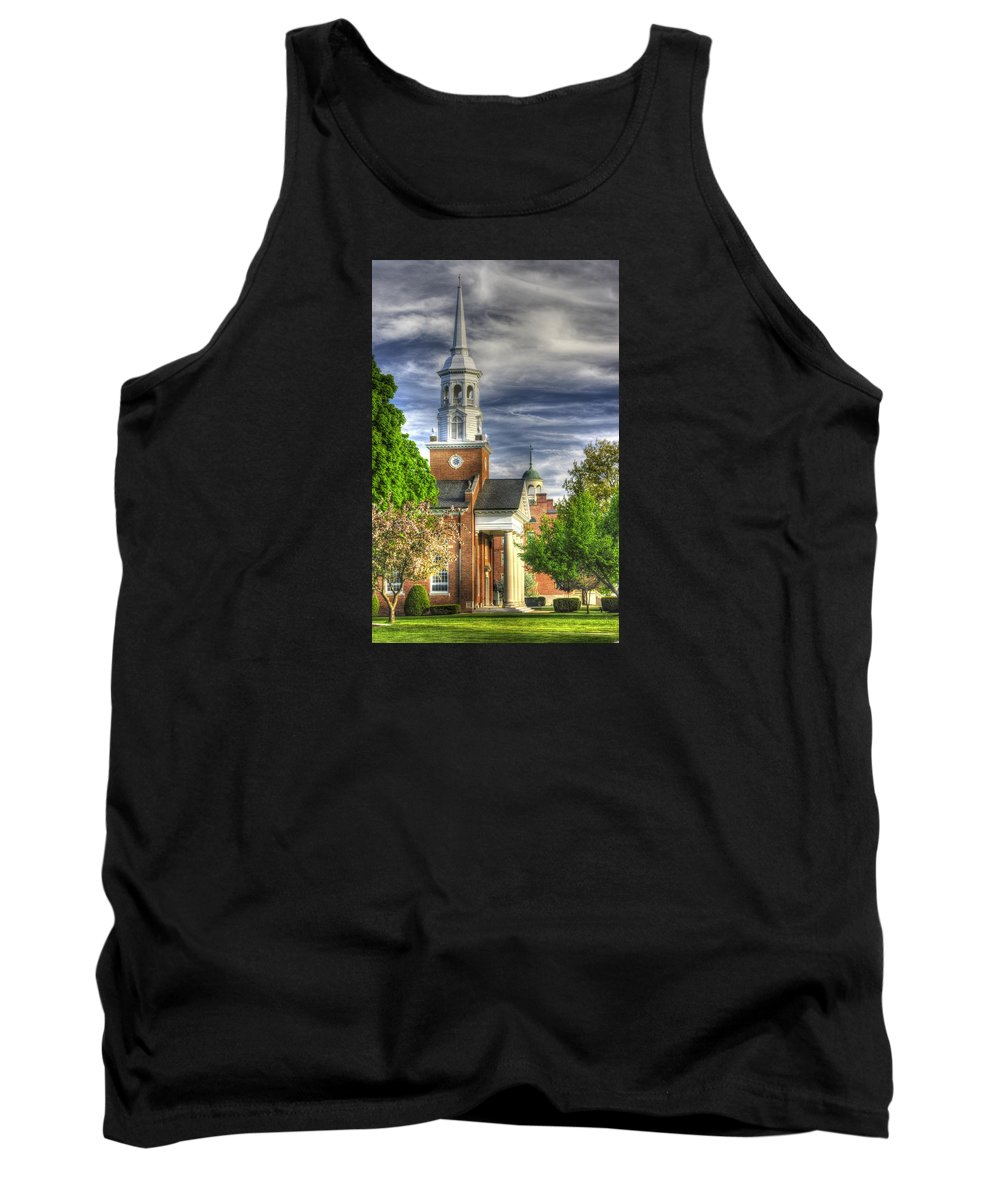 Gettysburg Tank Top featuring the photograph Church Of The Abiding Presence 1a - Lutheran Theological Seminary At Gettysburg Spring by Michael Mazaika