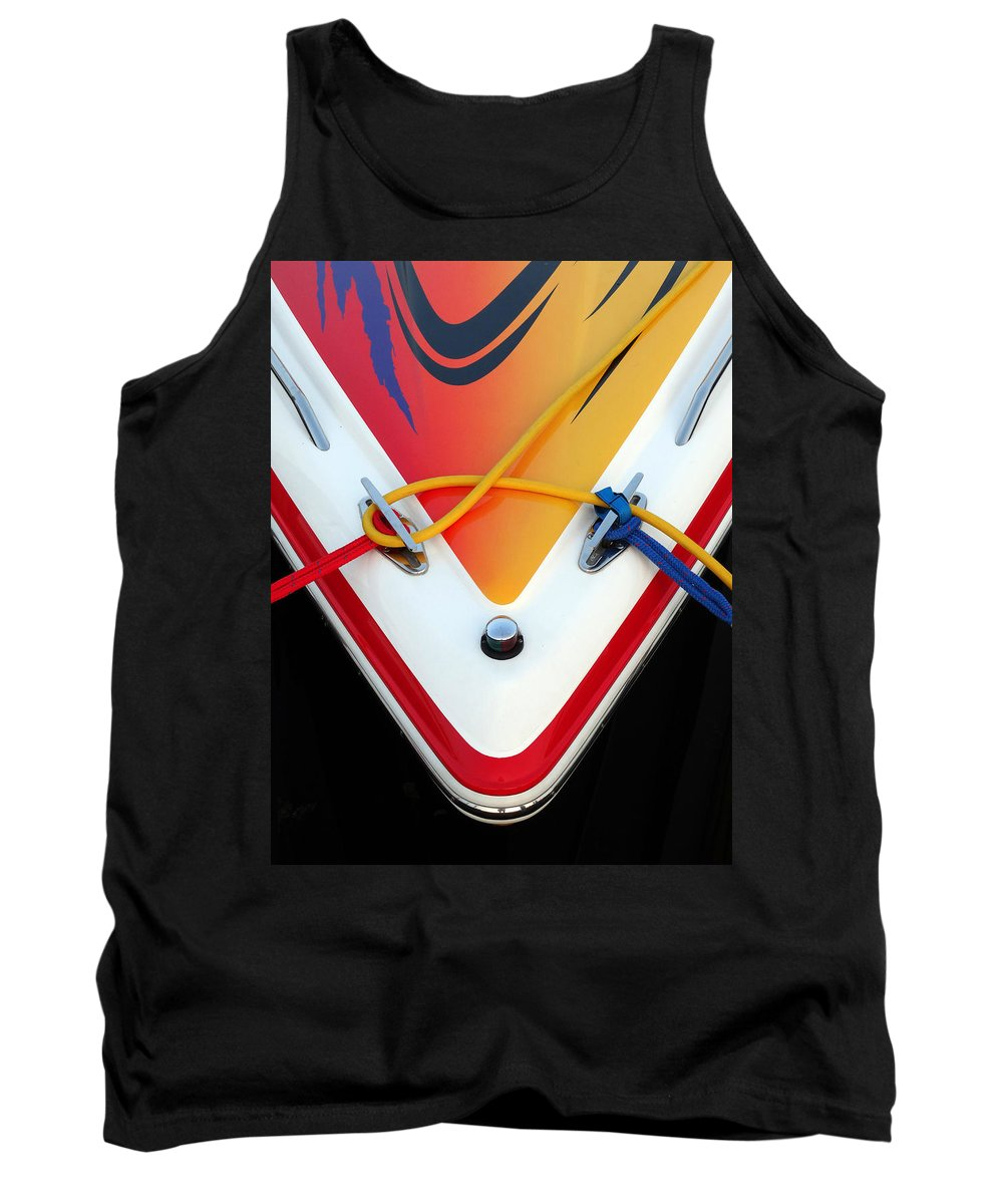 Cigarette Boat Tank Top featuring the photograph Cigarette Boat Detail by David T Wilkinson