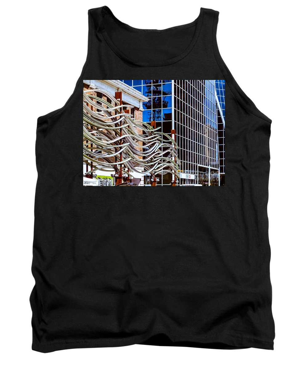 Digital Colour Tank Top featuring the photograph City Center-27 by David Fabian