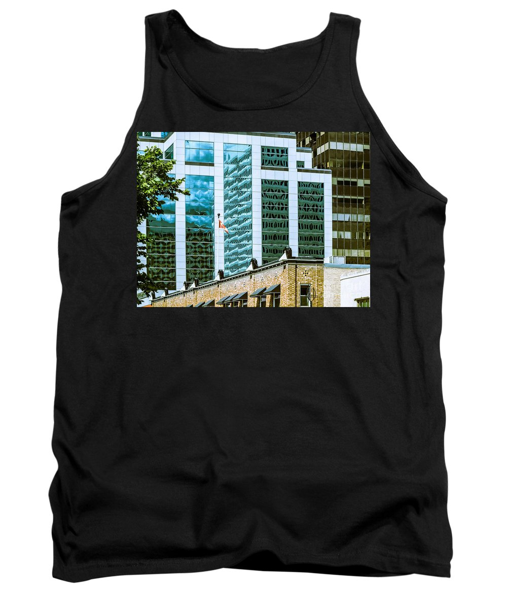 Urban Digital Colour Tank Top featuring the photograph City Center-63 by David Fabian
