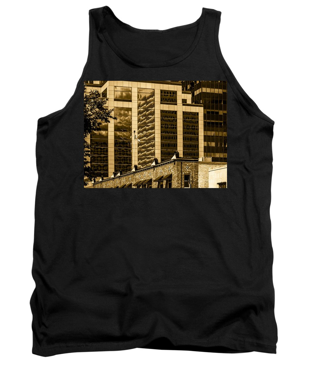 Urban Digital Colour Tank Top featuring the photograph City Center -65 by David Fabian
