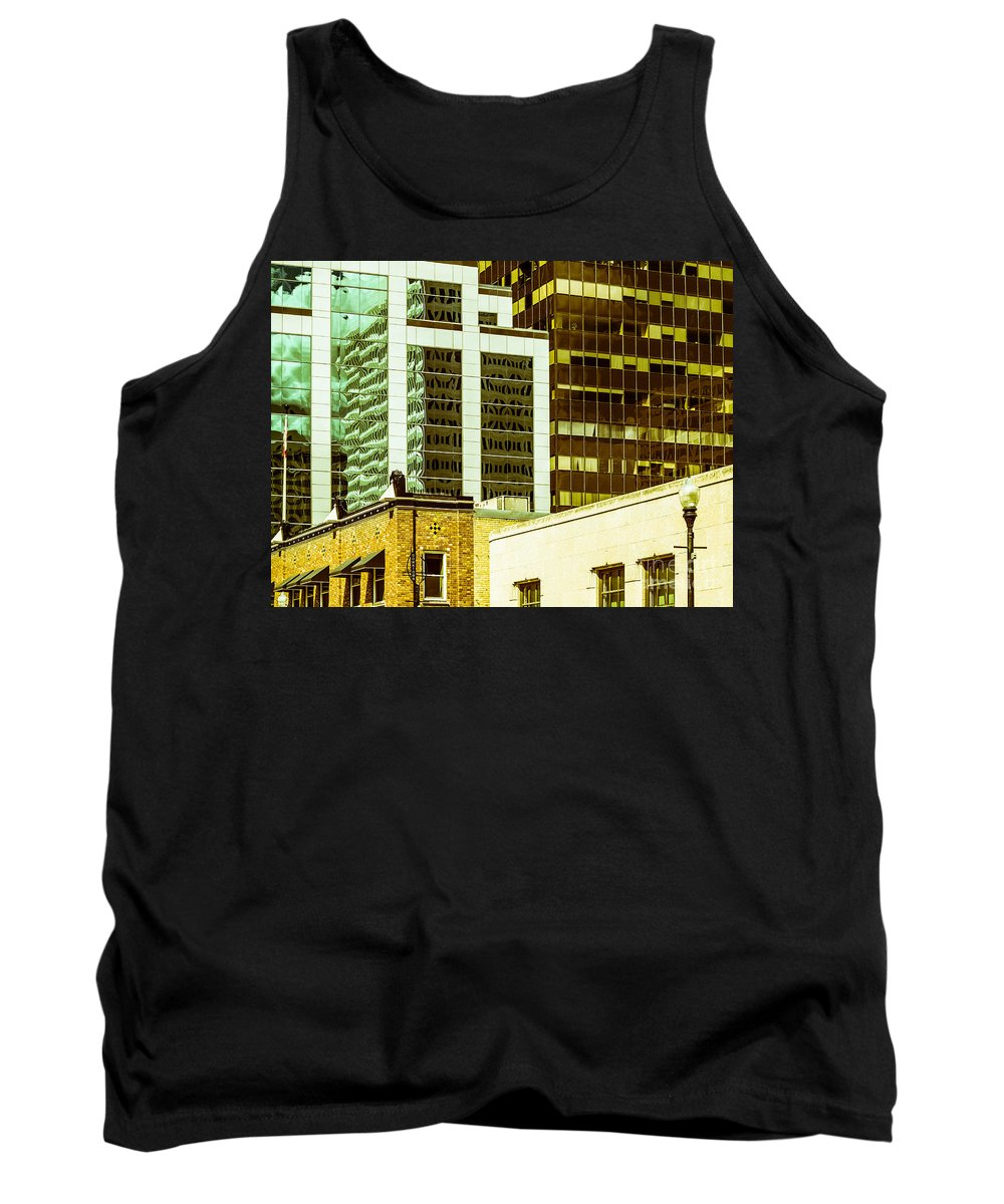 Abstract Colour Tank Top featuring the photograph City Center-74 by David Fabian