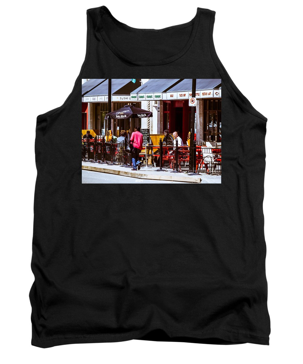 City Scape Tank Top featuring the photograph City Center-77 by David Fabian