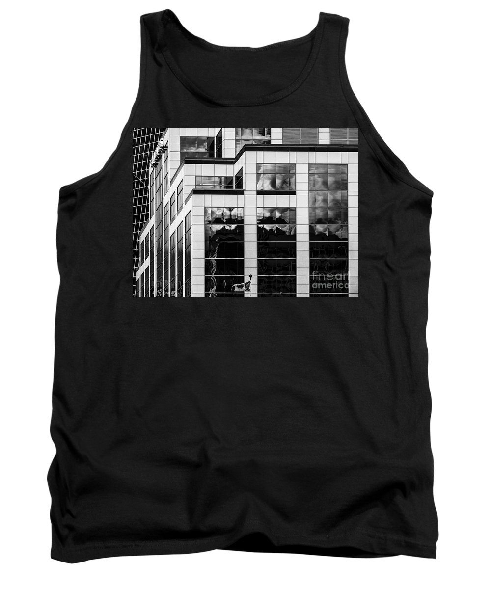 Reflections Tank Top featuring the photograph City Center-83 by David Fabian