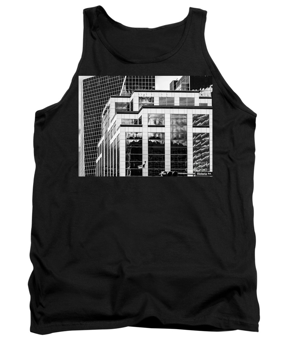 Digital Black And White Tank Top featuring the photograph City Center-86 by David Fabian