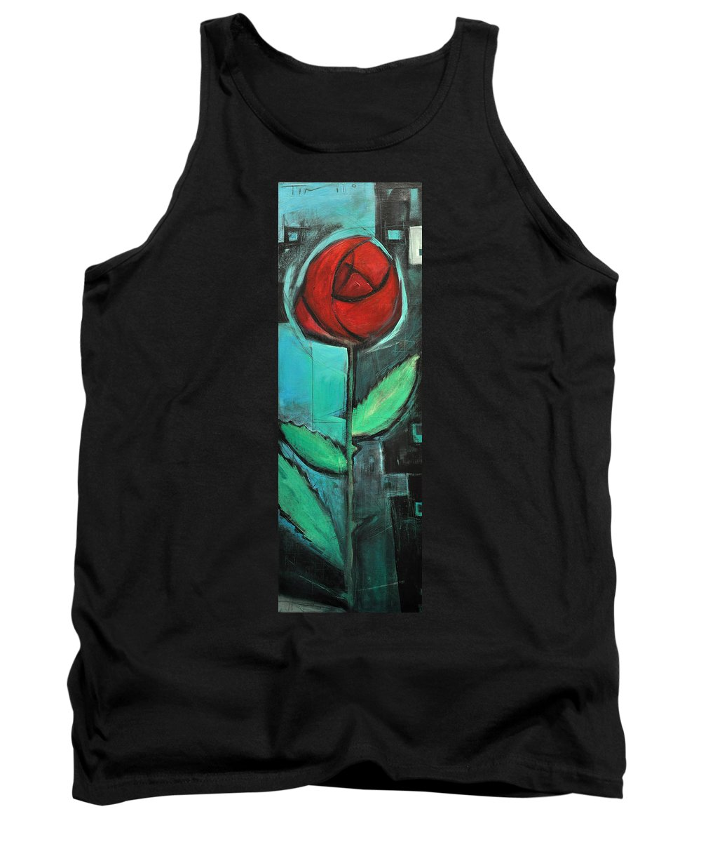 Rose Tank Top featuring the painting City Rose - Few Noticed by Tim Nyberg