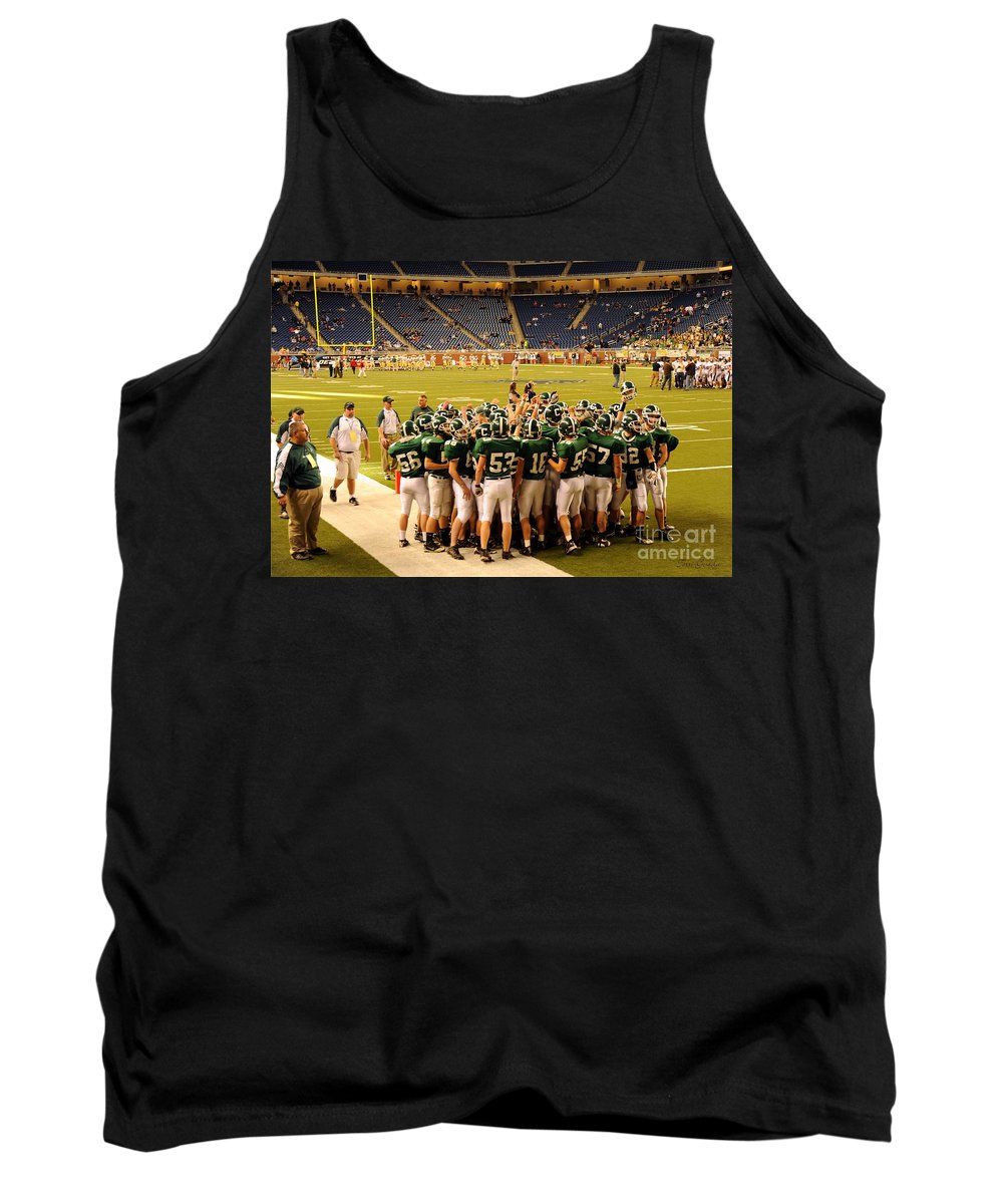 Clare Tank Top featuring the photograph Clare Pioneers At Ford Field by Terri Gostola