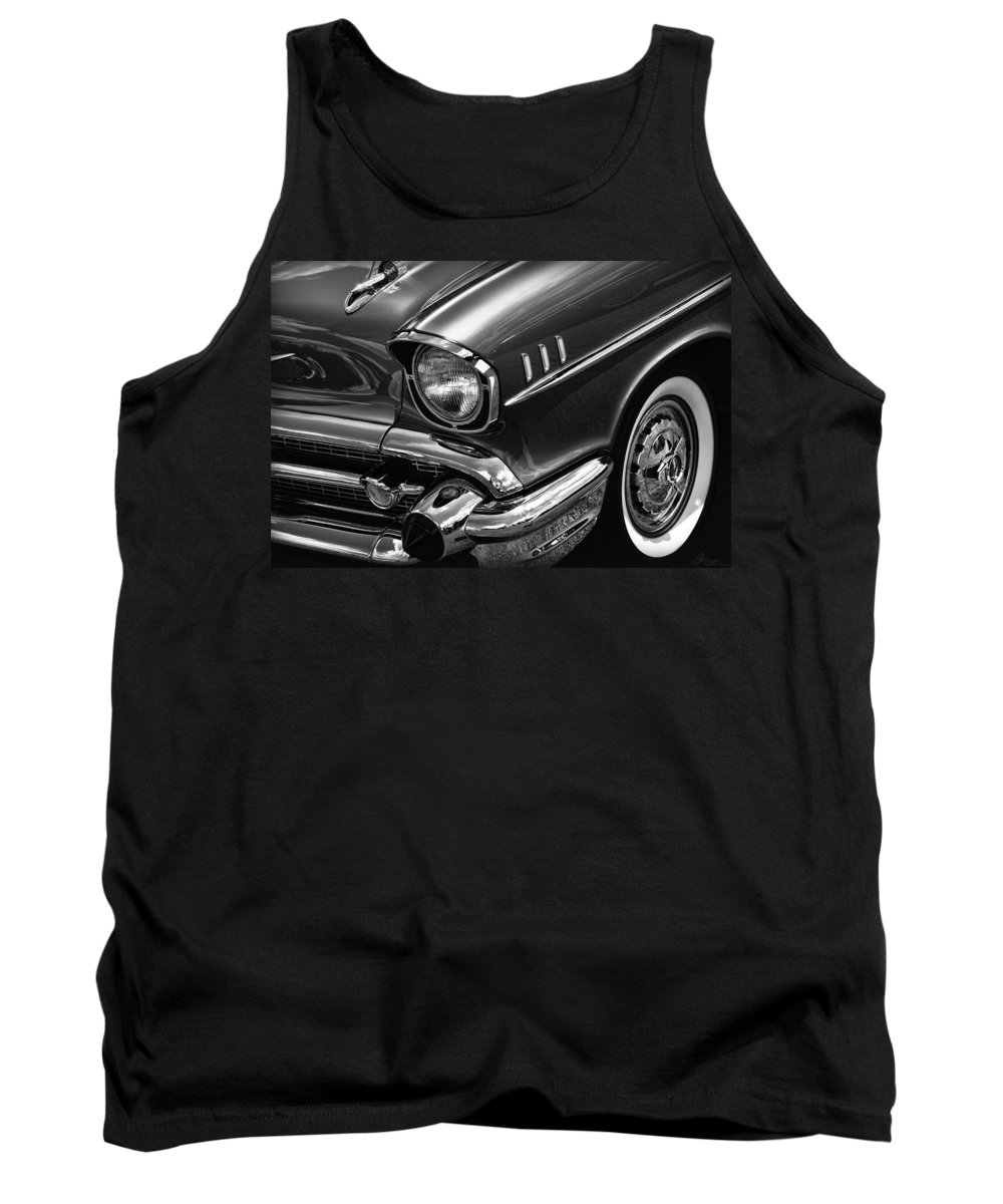 1957 Tank Top featuring the photograph Classic '57 Chevy by Gordon Dean II