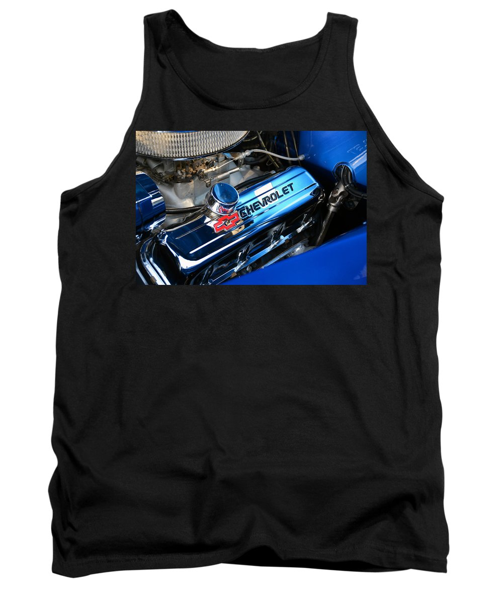 Chevy Engine Tank Top featuring the photograph Classic Chevy Power Plant by David Lee Thompson