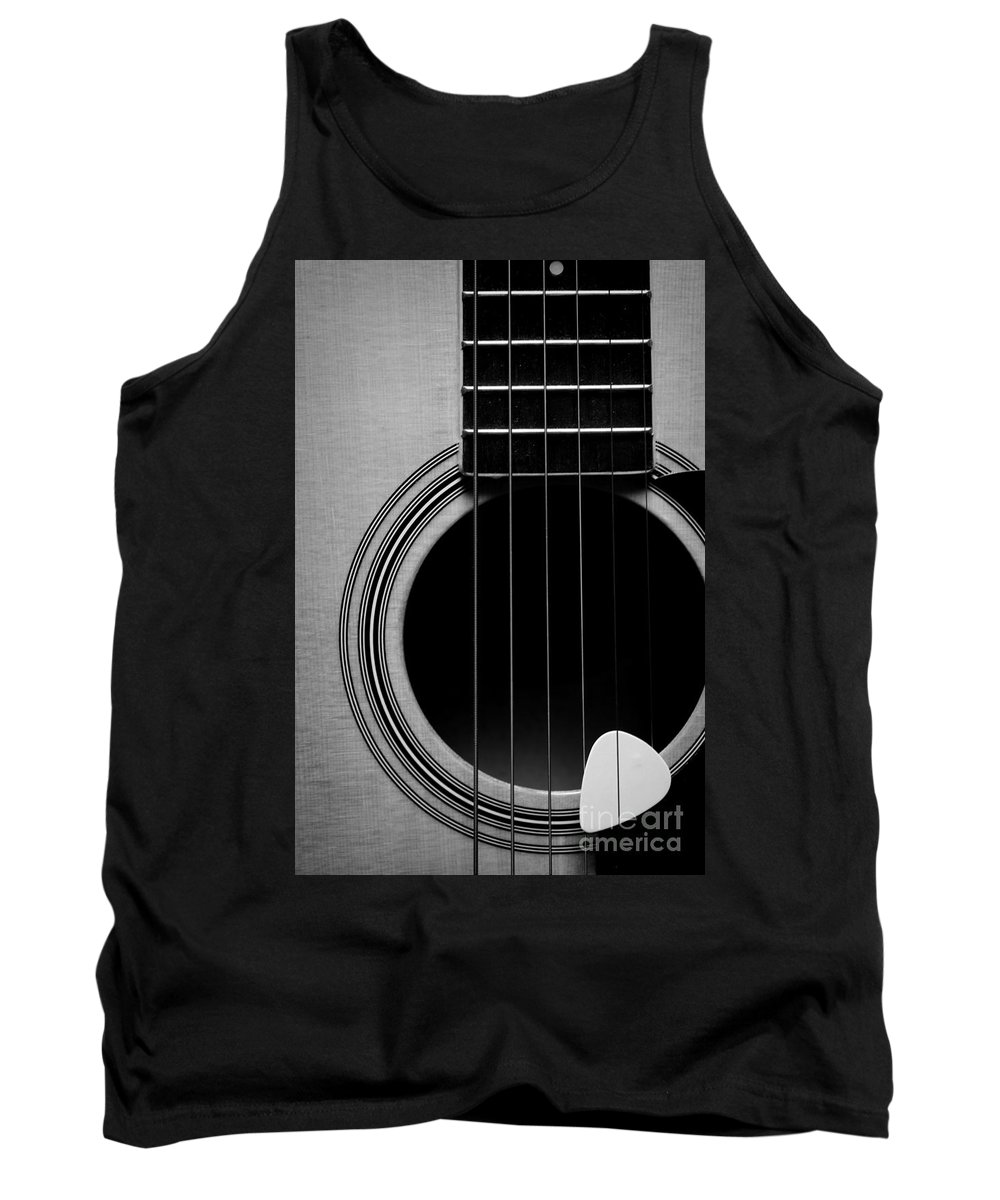 Paul Ward Tank Top featuring the photograph Classic Guitar In Black And White by Paul Ward