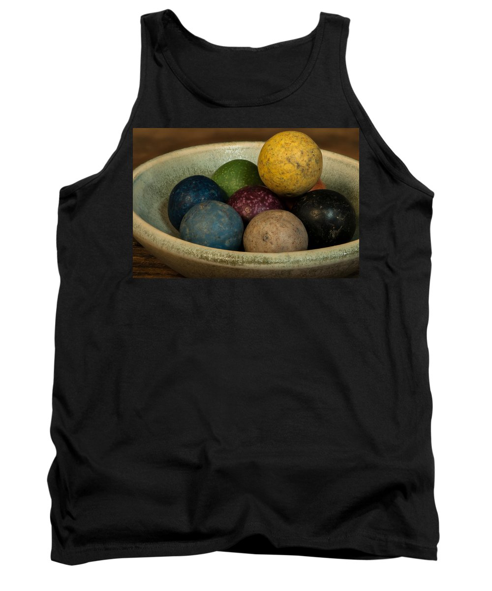 Clay Tank Top featuring the photograph Clay Marbles In Bowl by Randy Walton