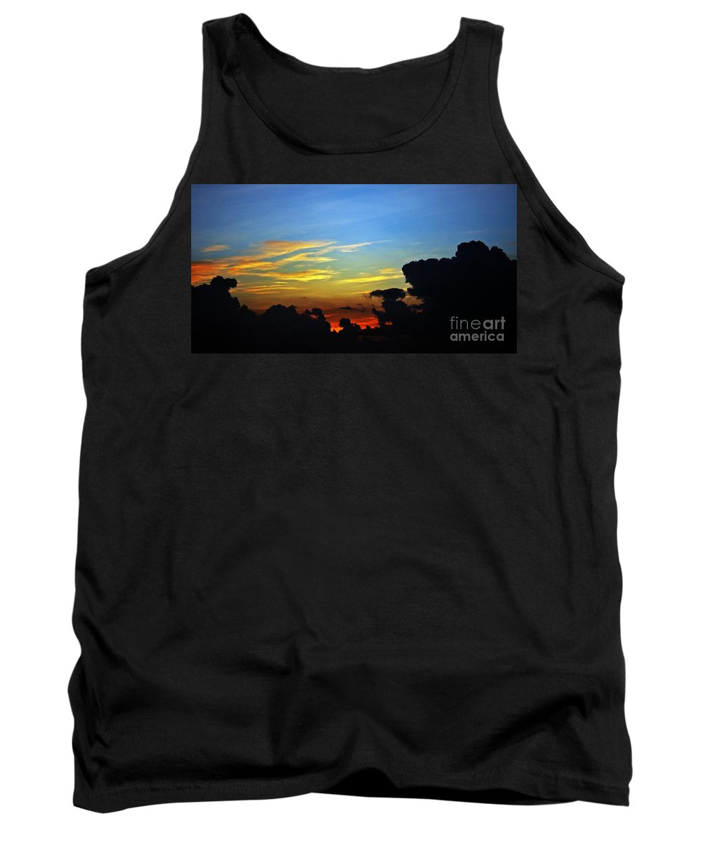 Sunrise Tank Top featuring the photograph Cloudy Morning In Fort Lauderadale by Judy Wolinsky