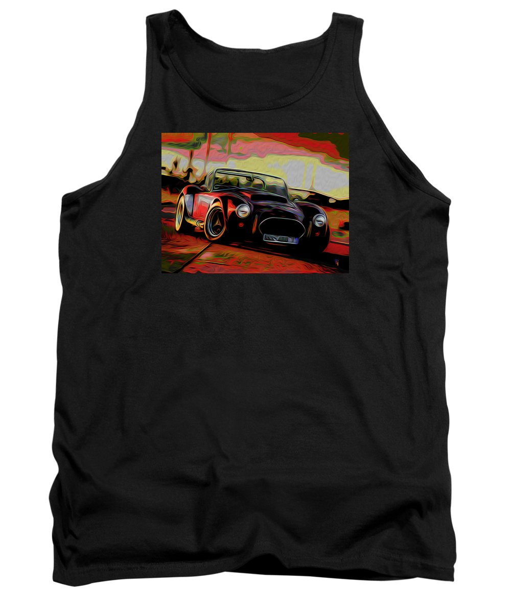 Cobra Tank Top featuring the painting Cobra by Fli Art