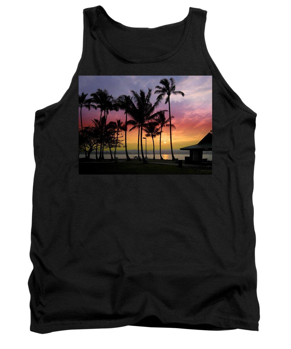 Hawaii Tank Top featuring the photograph Coconut Island Sunset - Hawaii by Daniel Hagerman