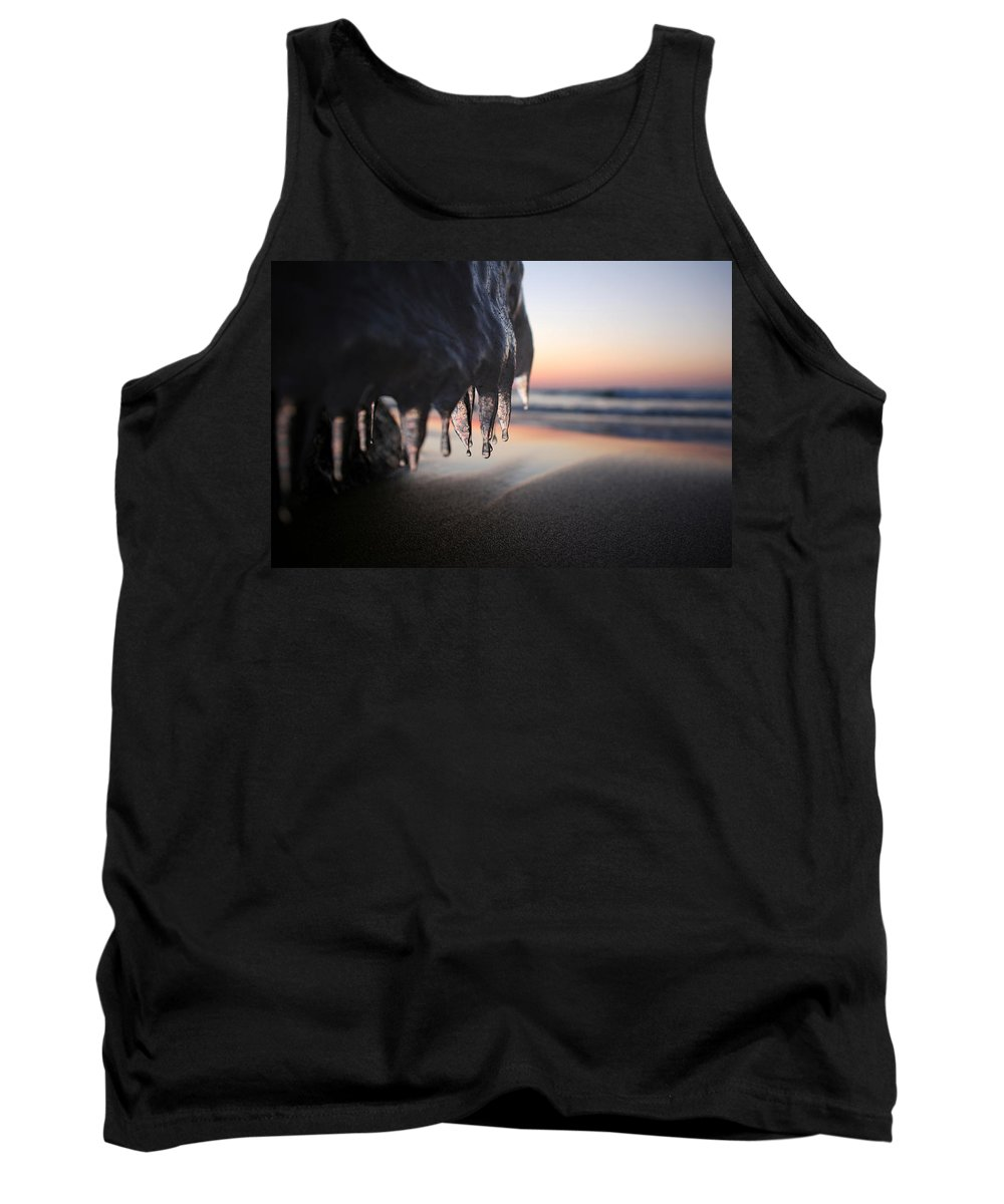 Ice Tank Top featuring the photograph Cold Sunset by Allan Lovell