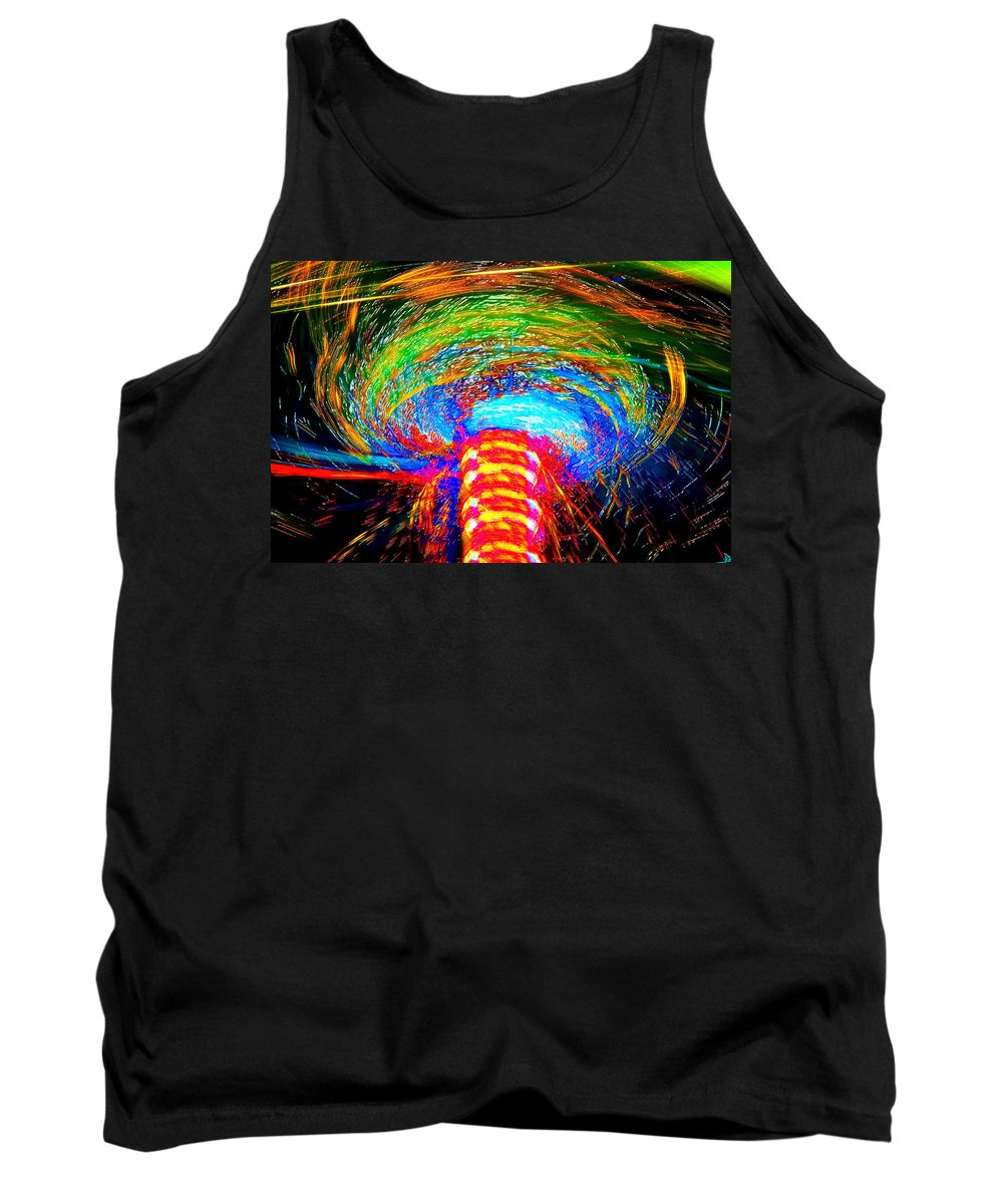 Art Tank Top featuring the painting Color Chaos by David Lee Thompson