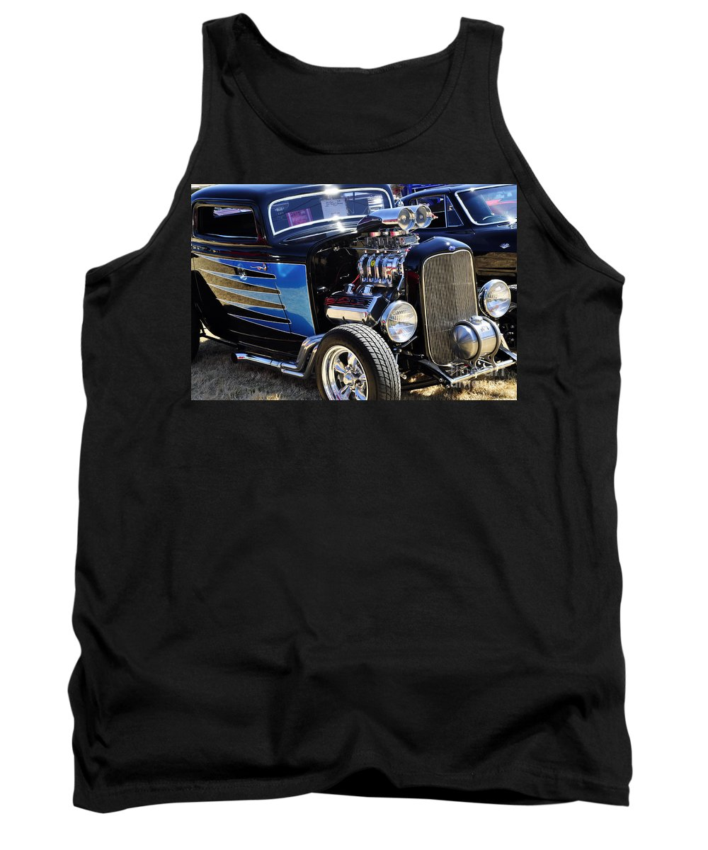 Tacoma Washington Tank Top featuring the photograph Color Chrome 1932 Black Ford Coupe by Tikvah's Hope