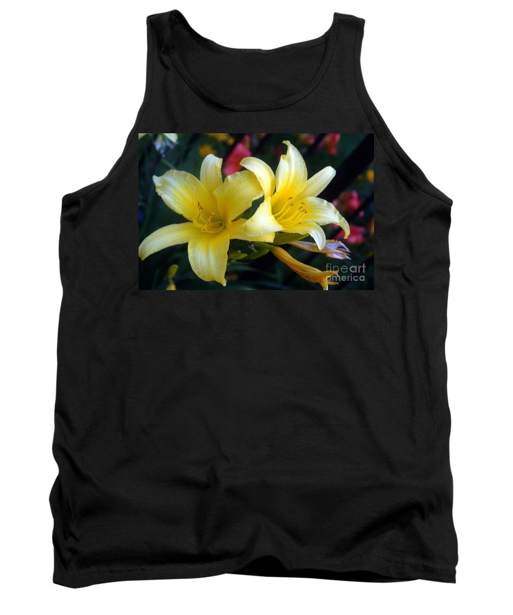 Flower Tank Top featuring the photograph Color Of Lemon by Violeta Ianeva