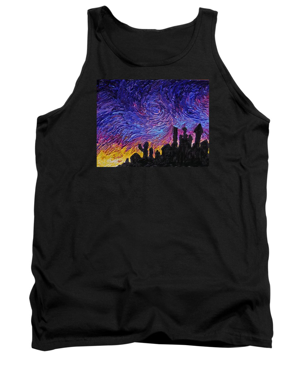 Building Tank Top featuring the painting Color Of The Sky Part1 by Felix Concepcion