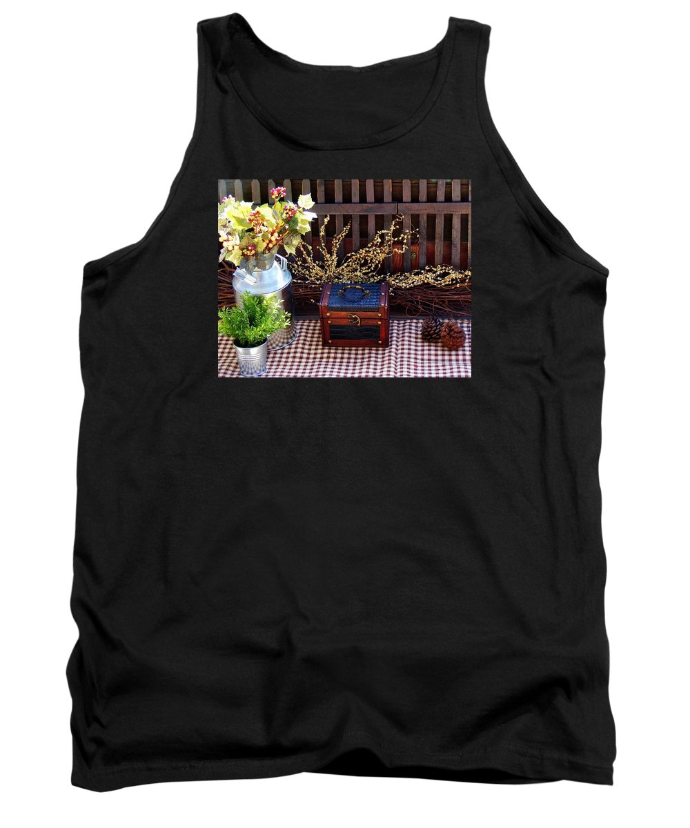 Still Life Tank Top featuring the photograph Colorful Country Still Life by Cherie Cokeley