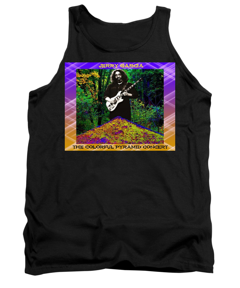 Jerry Garcia Tank Top featuring the photograph Colorful Pyramid Concert by Ben Upham