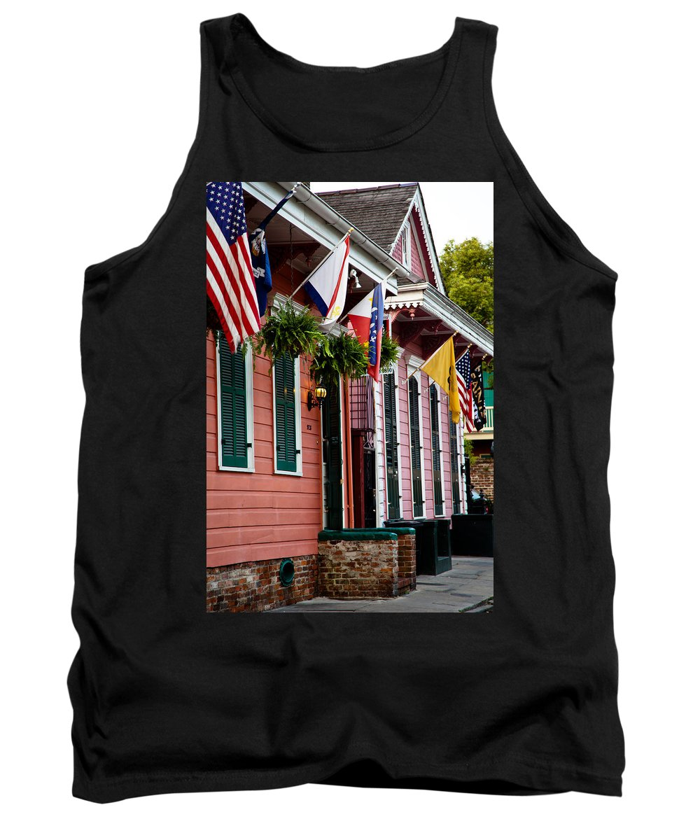 New Orleans Tank Top featuring the photograph Colorful Row Houses by Susie Hoffpauir