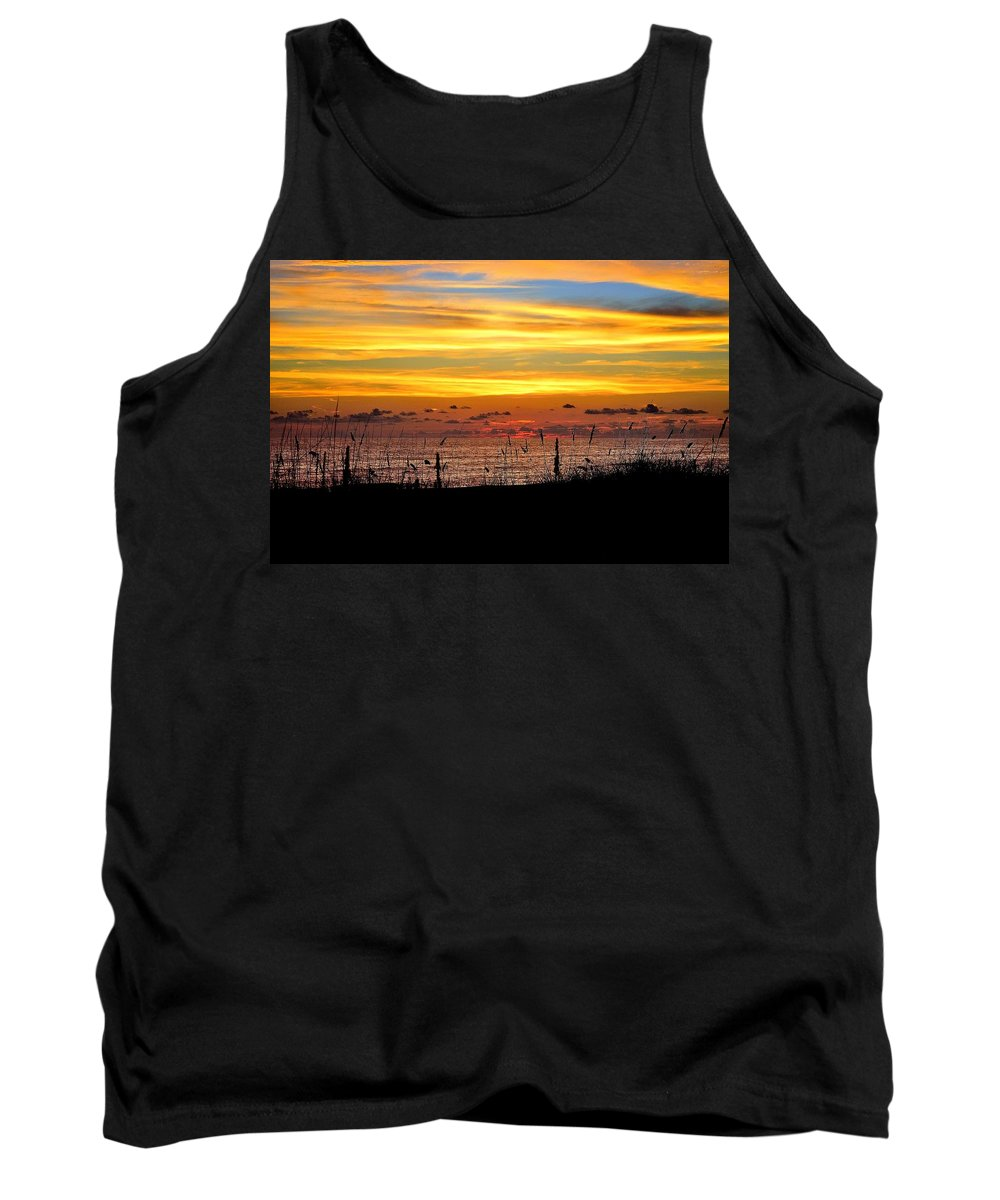 Colorful Sunset Tank Top featuring the photograph Colorful Sunset by Charles J Pfohl