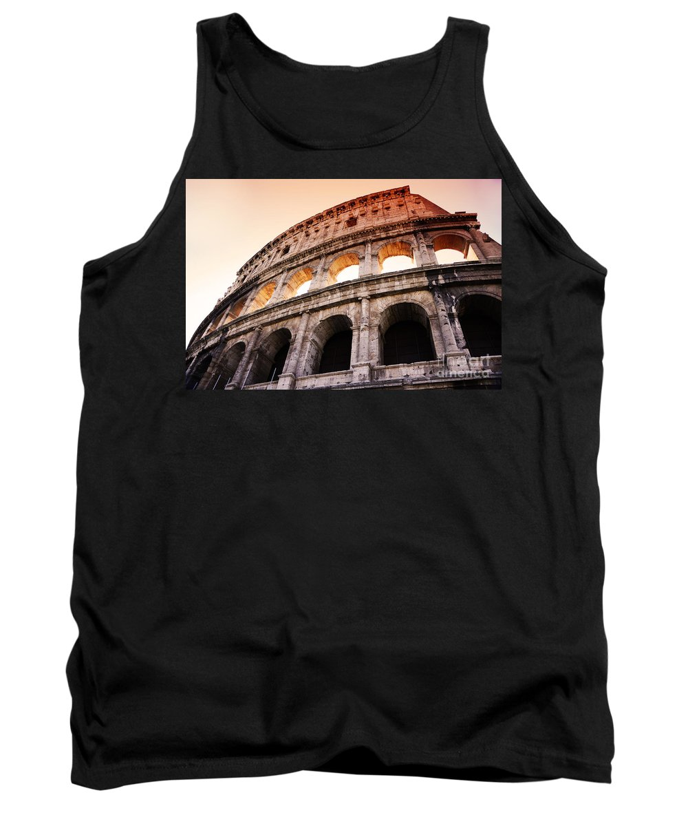 Rome Tank Top featuring the photograph Colosseum Italy by Phill Petrovic