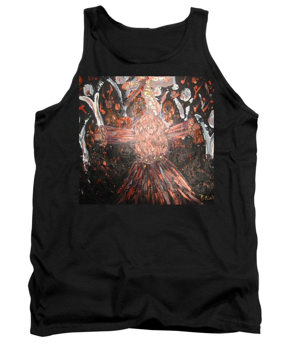 Angels Tank Top featuring the painting Coming Home by Dawn Richerson