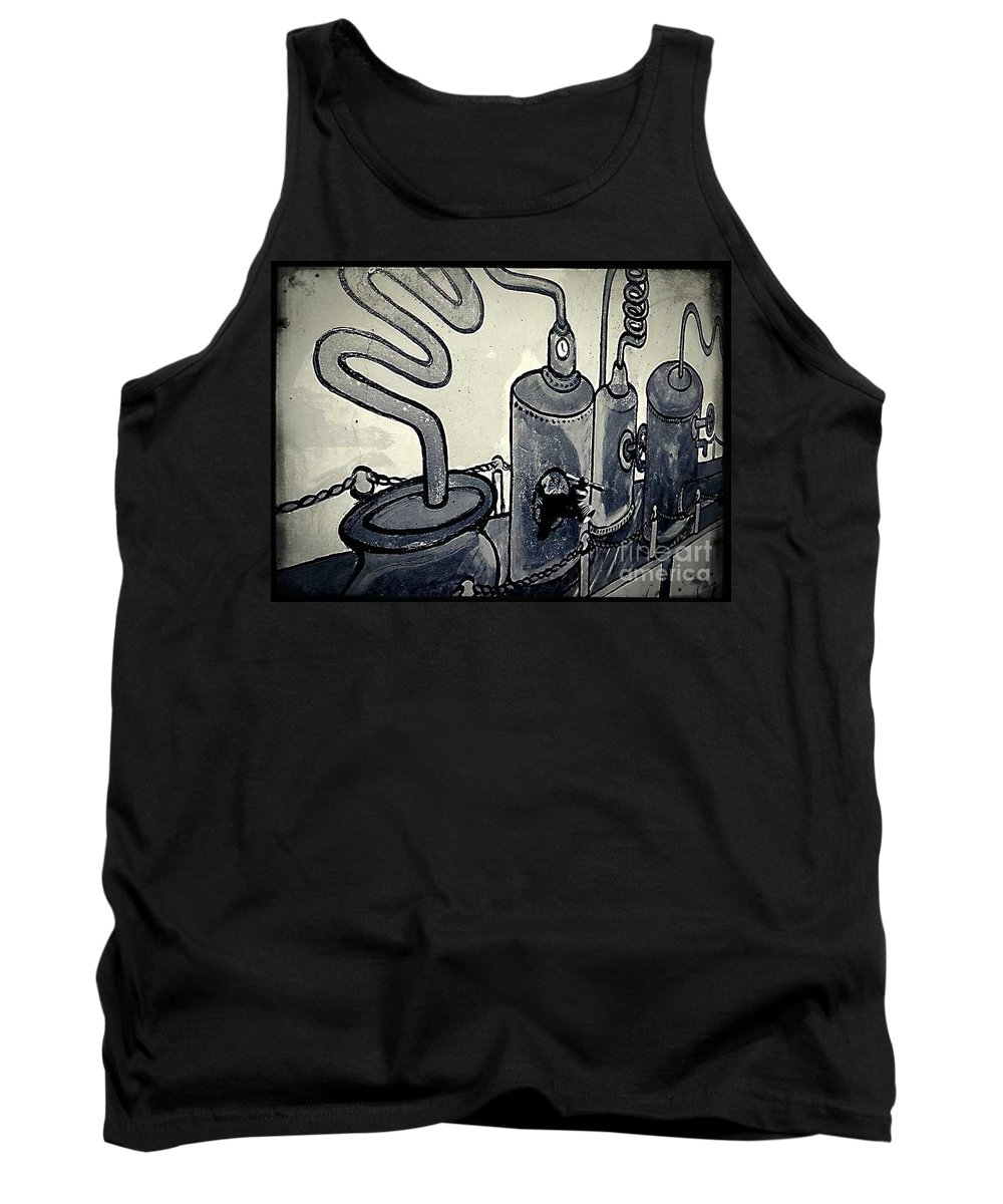Street Snapshot Tank Top featuring the photograph Commercial Wall by Fei A