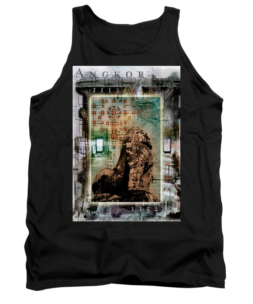 Angkor Tank Top featuring the photograph Composition Based On Angkor History by Design Pics Eye Traveller
