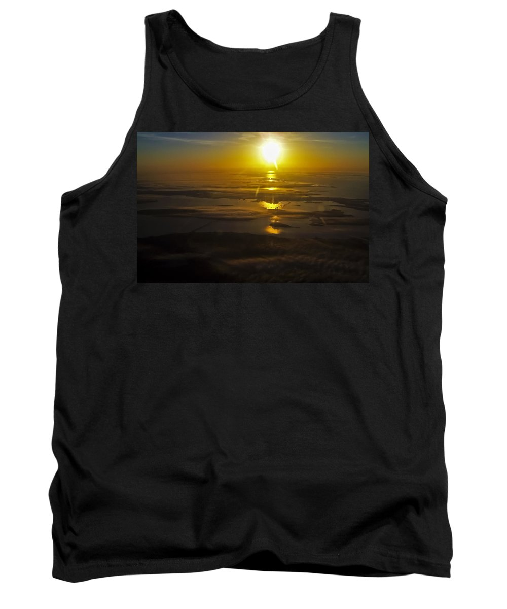 Conanicut Island Tank Top featuring the photograph Conanicut Island And Narragansett Bay Sunrise II by Greg Reed