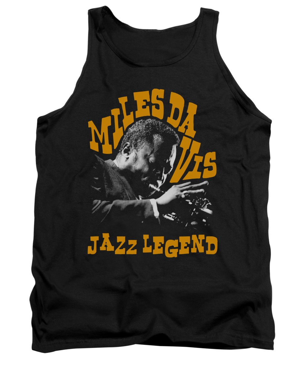 Miles Davis Tank Top featuring the digital art Concord Music - Jazz Legend by Brand A