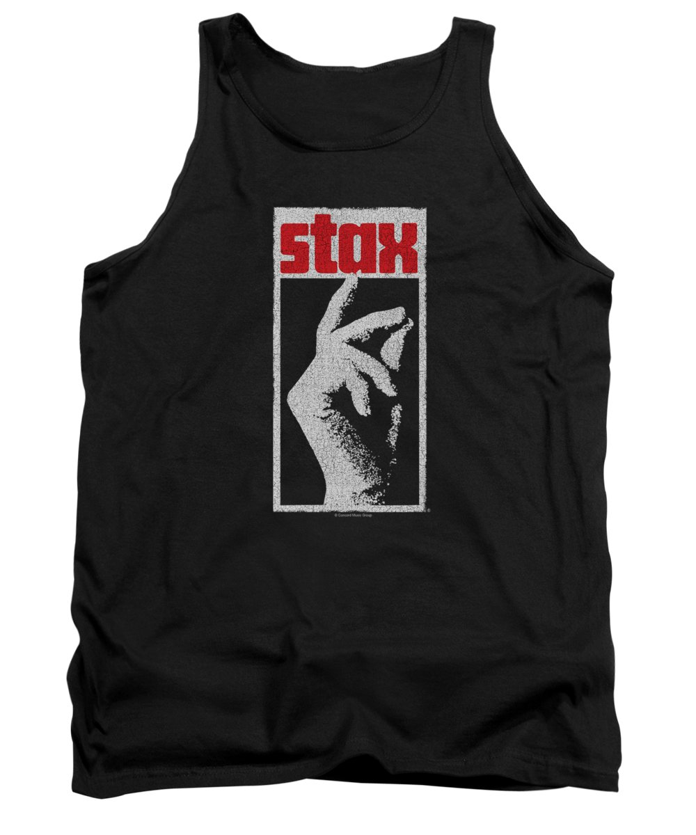 Stax Records Tank Top featuring the digital art Concord Music - Stax Distressed by Brand A