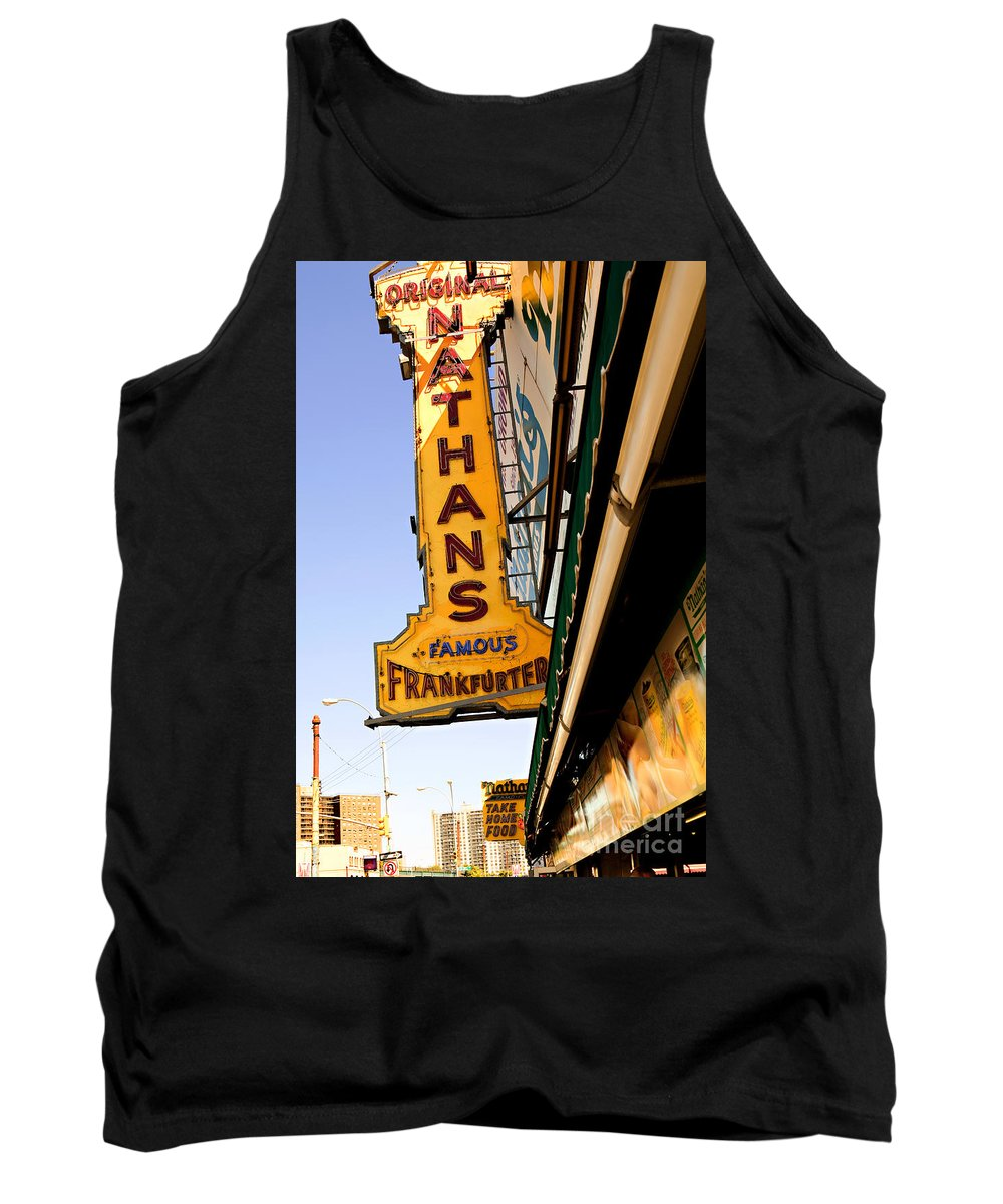 Original Nathans Tank Top featuring the photograph Coney Island Memories 1 by Madeline Ellis