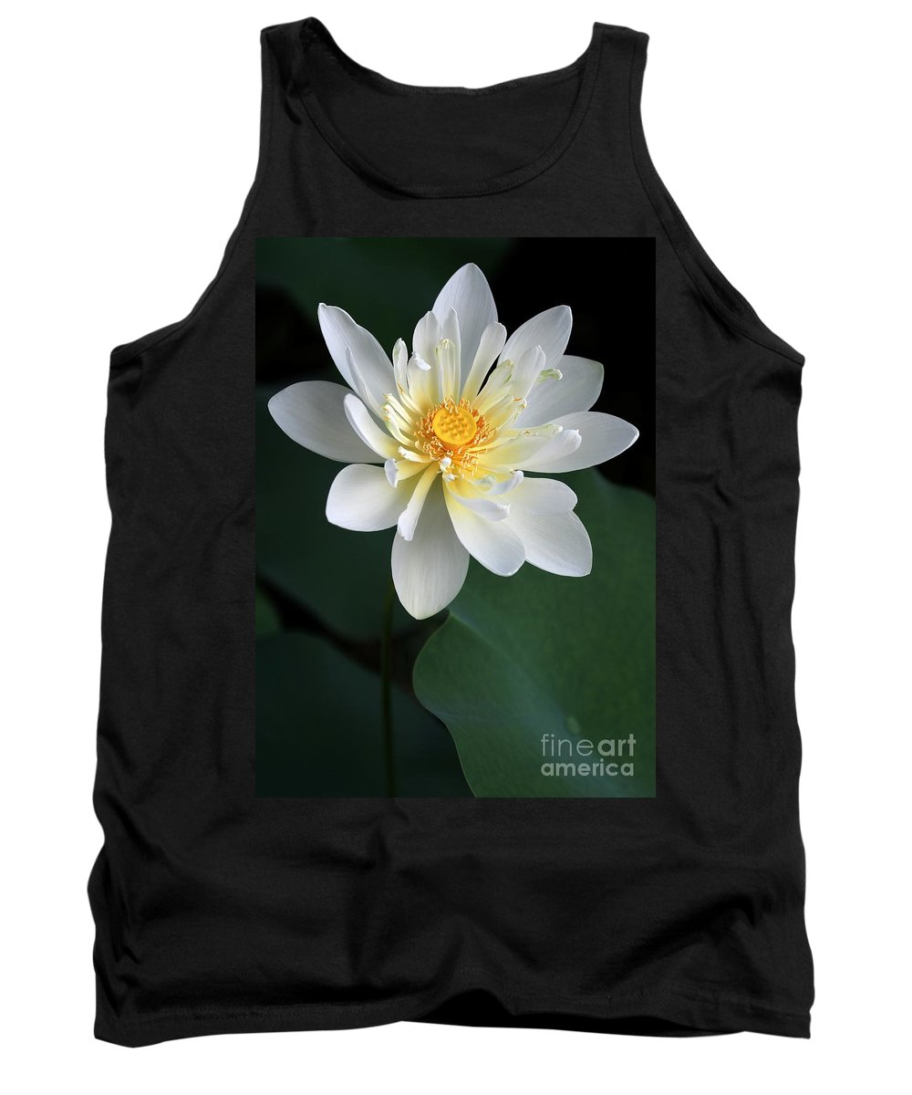 Lotus Tank Top featuring the photograph Confidence by Sabrina L Ryan