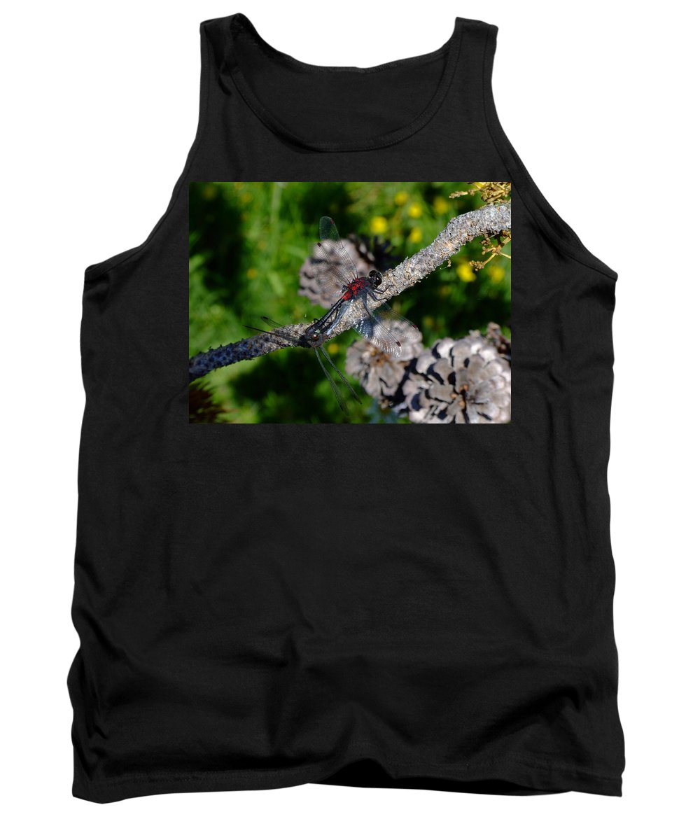 Dragonfly Tank Top featuring the photograph Consumate Romantic by Donna Blackhall