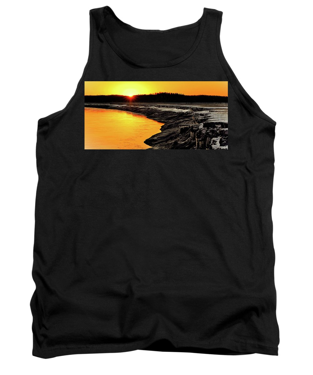 Alaska Tank Top featuring the photograph Contrasts In Nature by Ron Day