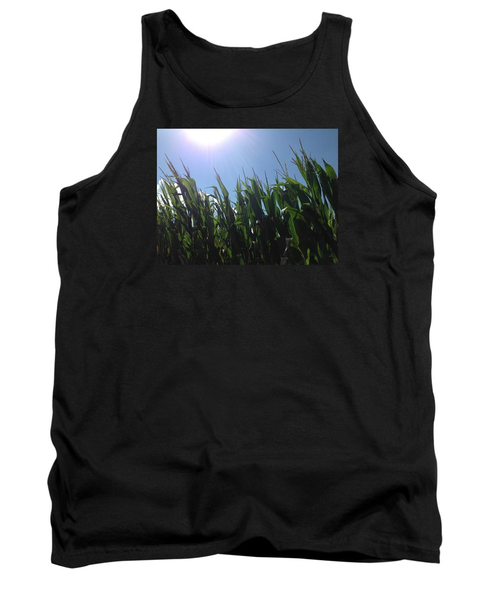 Photo Tank Top featuring the photograph Corn Maze 02 by Edward Paul
