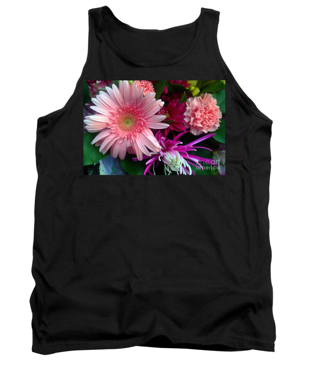 Flowers Tank Top featuring the photograph Cosmic Bouquet by Violeta Ianeva