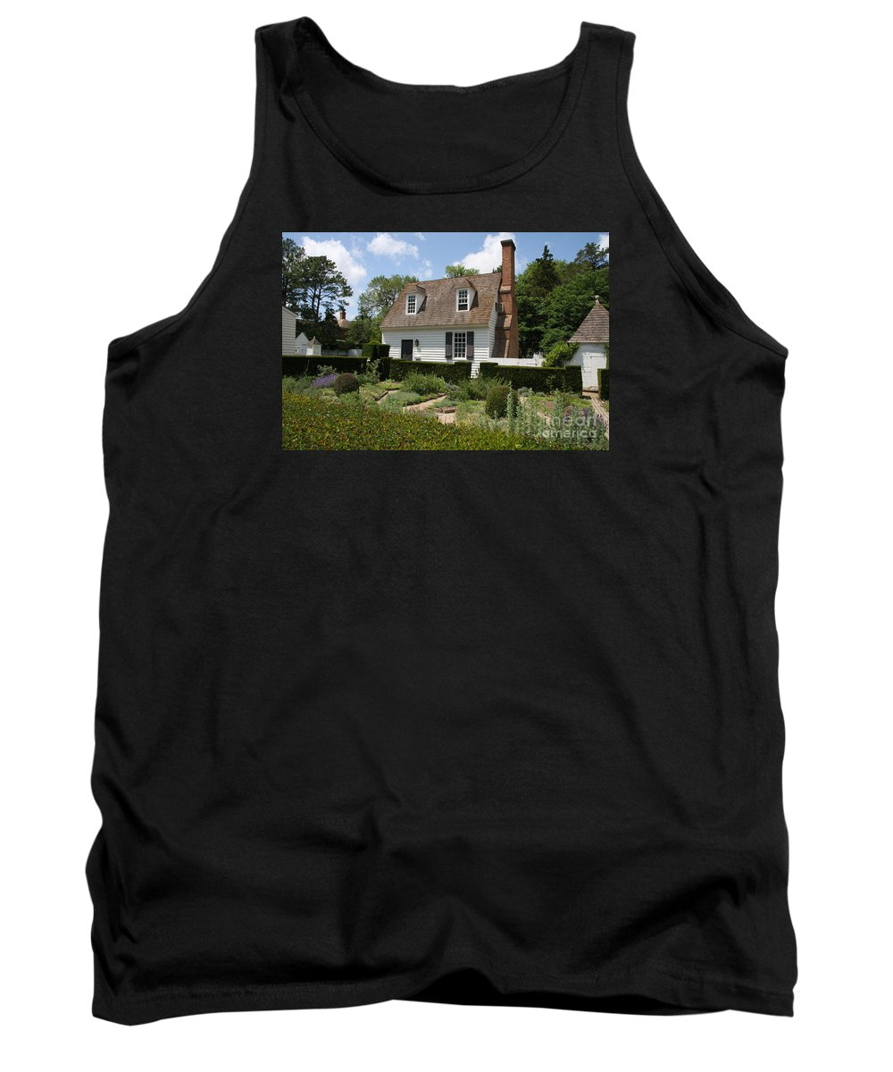 Cottage Tank Top featuring the photograph Cottage And Garden by Christiane Schulze Art And Photography