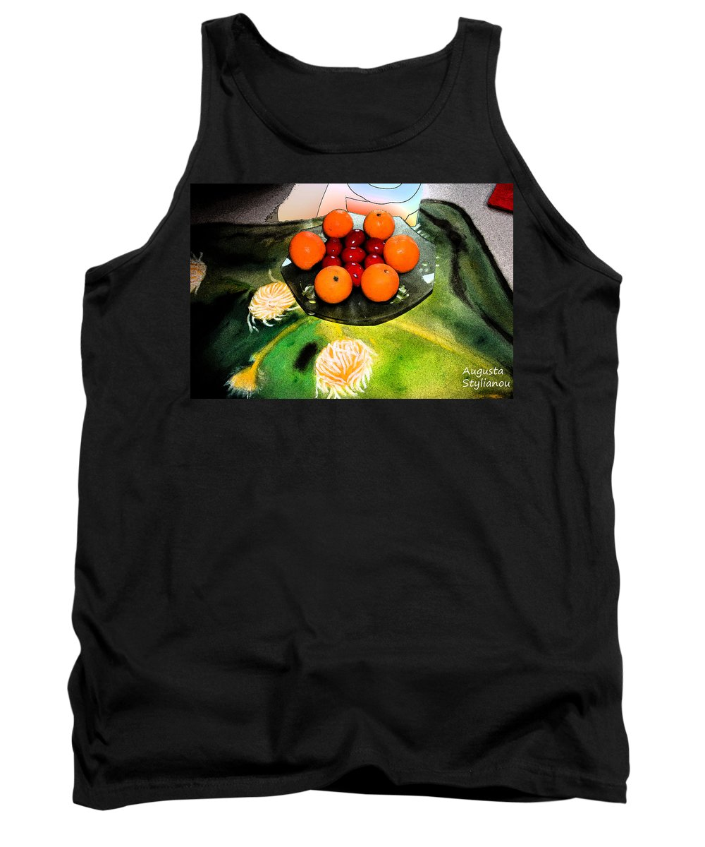 Augusta Stylianou Tank Top featuring the digital art Coulouful Easter by Augusta Stylianou