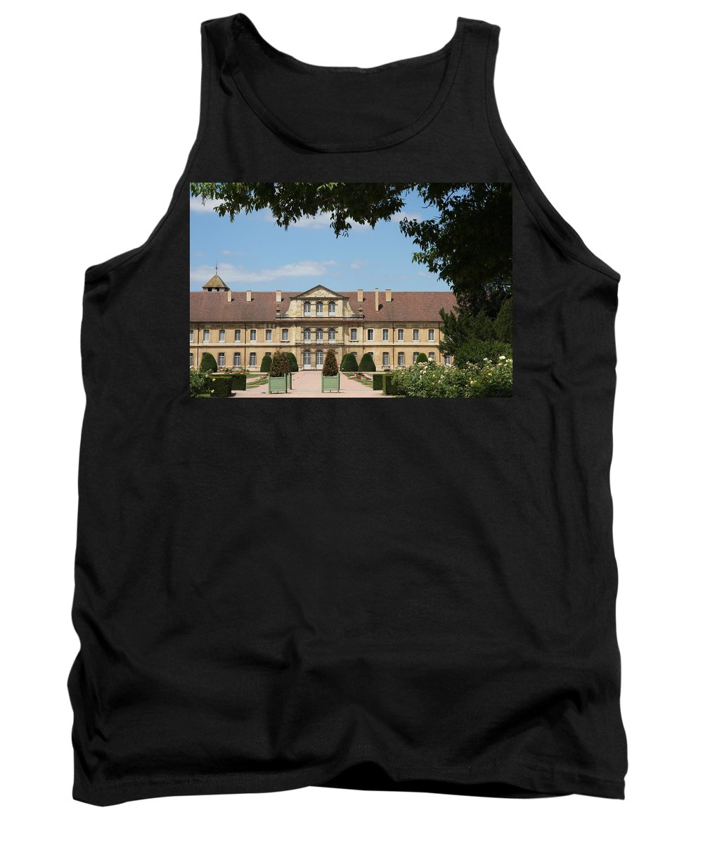 Cloister Tank Top featuring the photograph Courtyard Cloister Cluny by Christiane Schulze Art And Photography