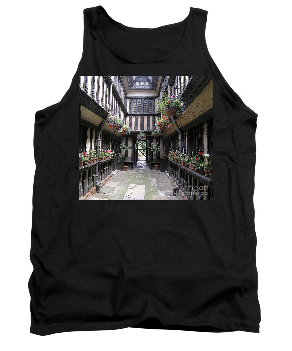 England Tank Top featuring the photograph Courtyard by Neil Finnemore