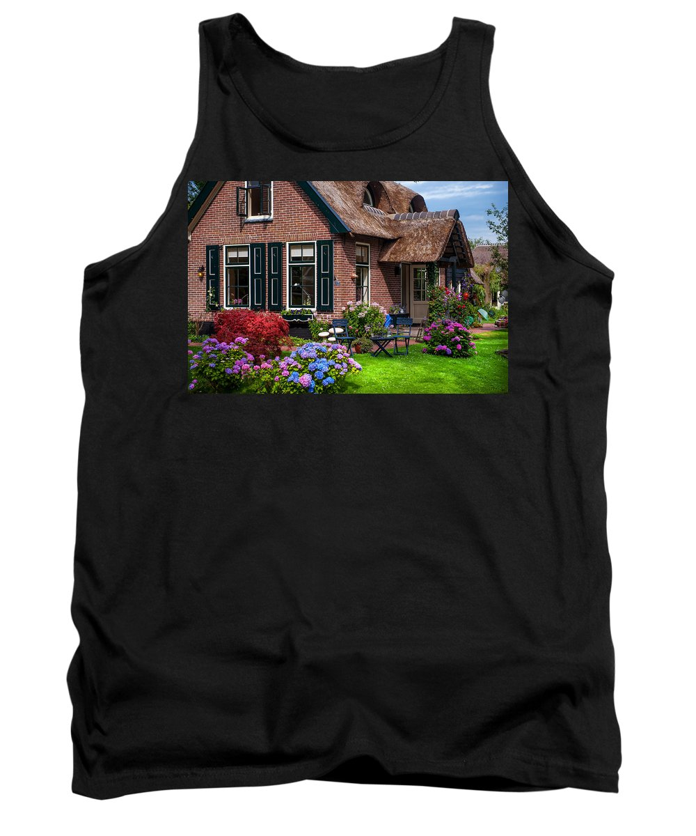 Netherlands Tank Top featuring the photograph Cozy Corner. Giethoorn. Netherlands by Jenny Rainbow