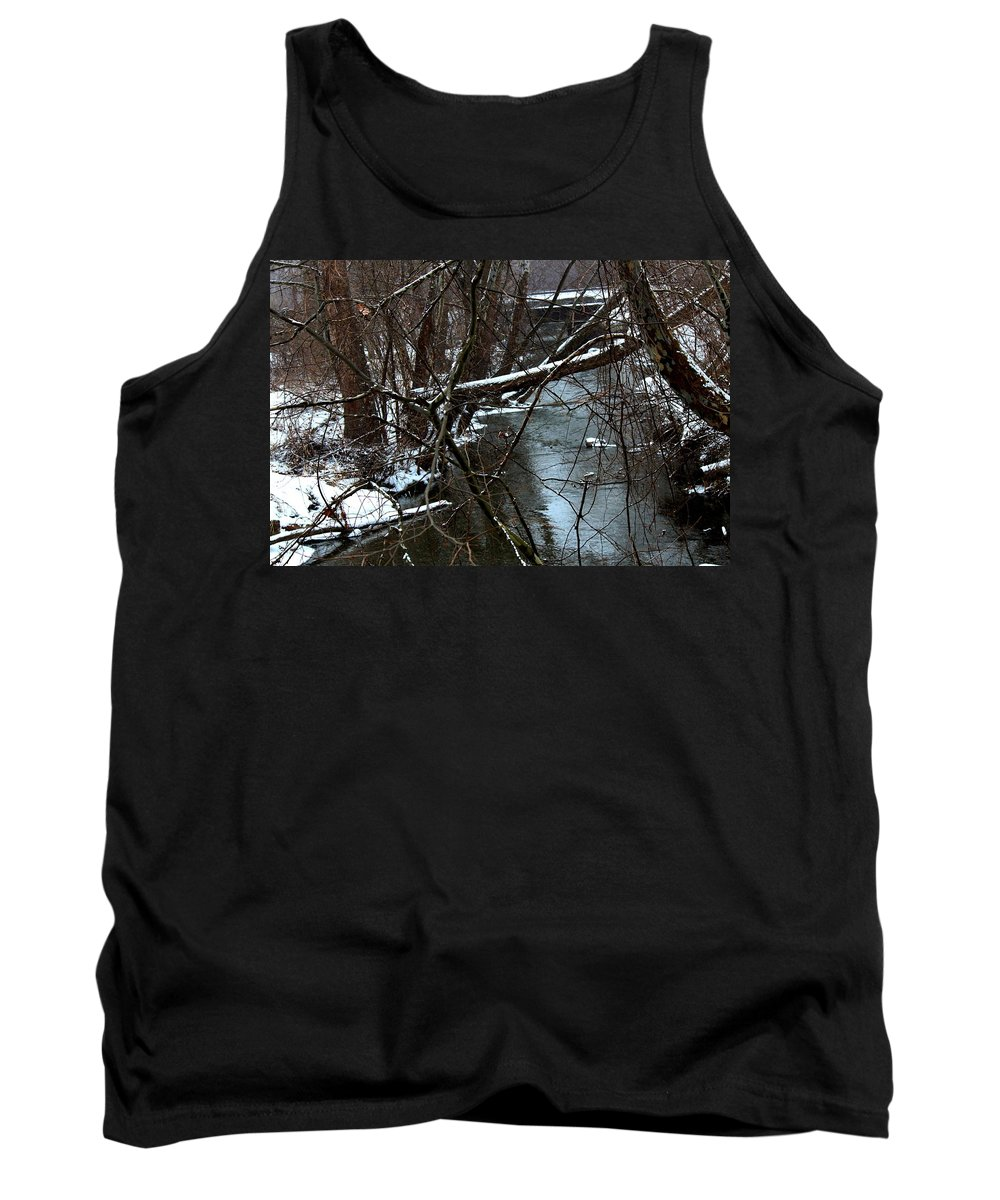 Snow Tank Top featuring the photograph Crab Run River-2 by R A W M