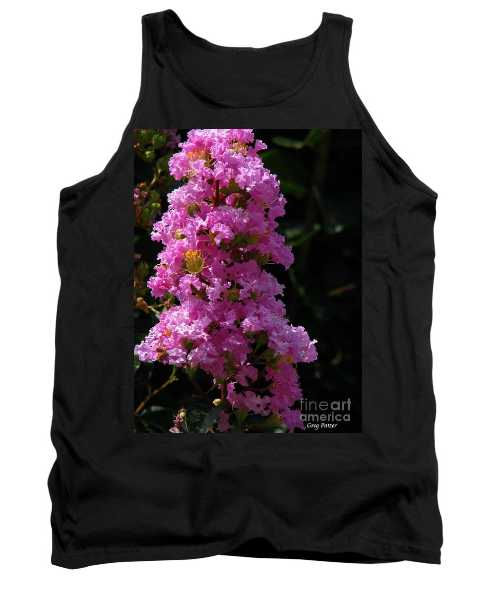 Art For The Wall...patzer Photography Tank Top featuring the photograph Crape Myrtle by Greg Patzer